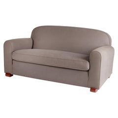Jules Leleu, Art Deco Sofa with Rounded Back, French, 1930s