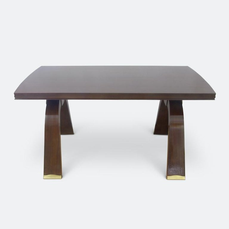 Art Deco Jules Leleu Dining Table, 1930s For Sale