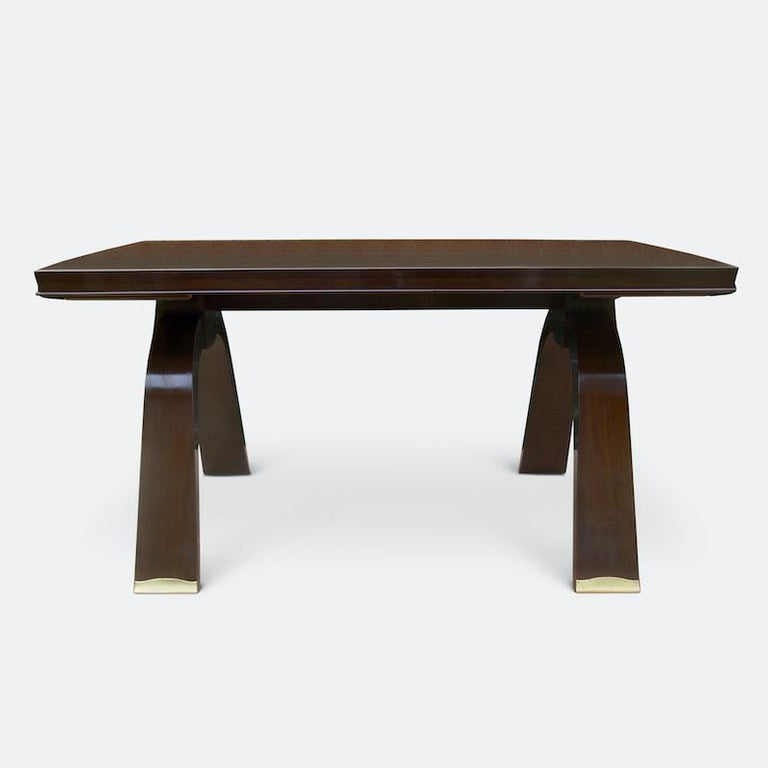 Jules Leleu Dining Table, 1930s In Good Condition For Sale In London, GB