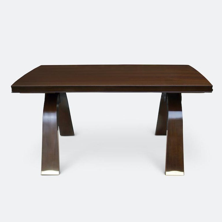 Mid-20th Century Jules Leleu Dining Table, 1930s For Sale