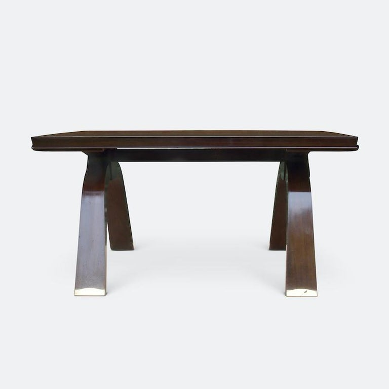 Wood Jules Leleu Dining Table, 1930s For Sale