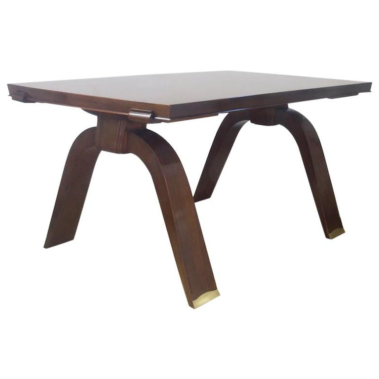 Jules Leleu Dining Table, 1930s For Sale