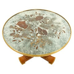 Jules Leleu Eglomise and Bronze Coffee Table