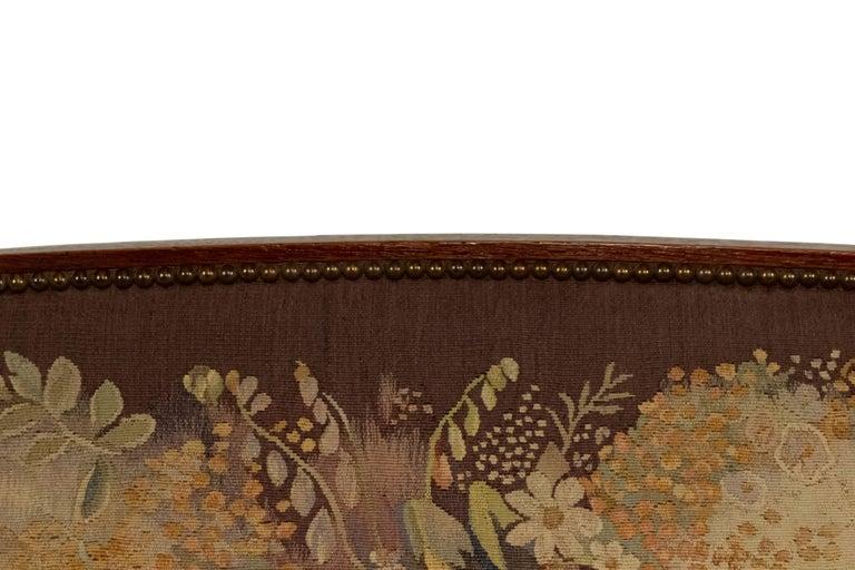 Jules Leleu French Art Deco Tapestry Loveseat For Sale 7