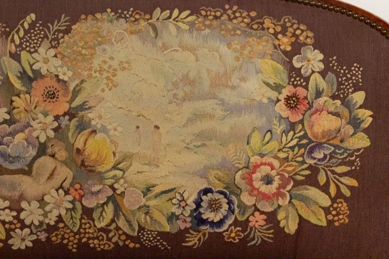 Jules Leleu French Art Deco Tapestry Loveseat For Sale 9