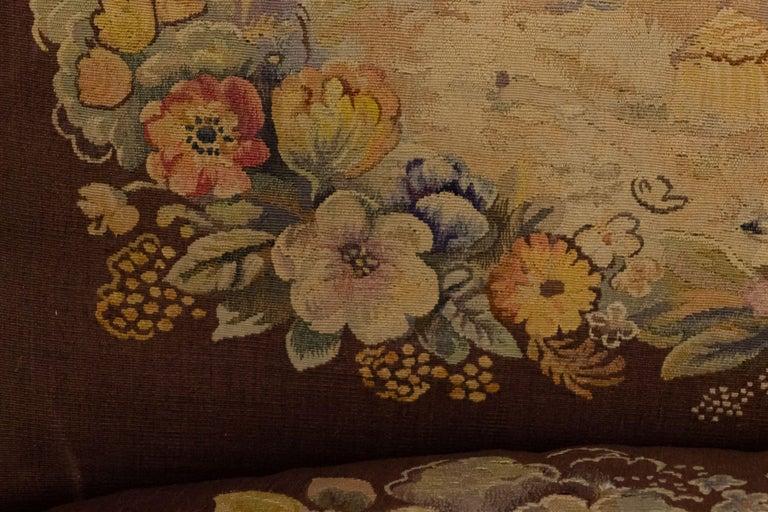 Jules Leleu French Art Deco Tapestry Loveseat For Sale 11