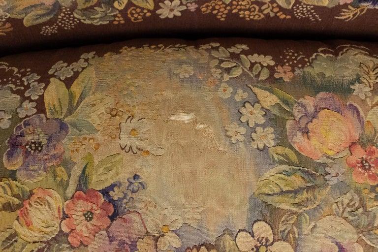 Jules Leleu French Art Deco Tapestry Loveseat For Sale 12