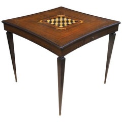 Jules Leleu Inlaid Card and Games Table