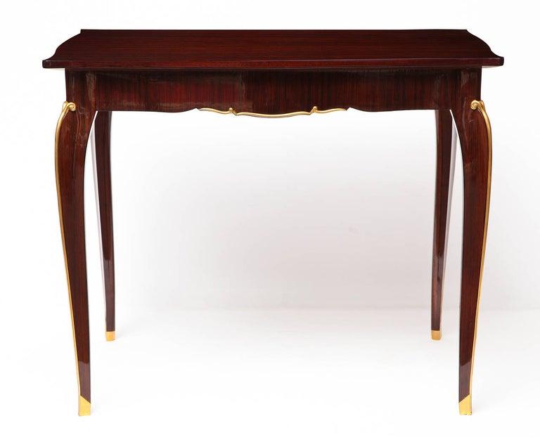 Art Deco Jules Leleu, Mahogany Writing Table, France, circa 1940 For Sale