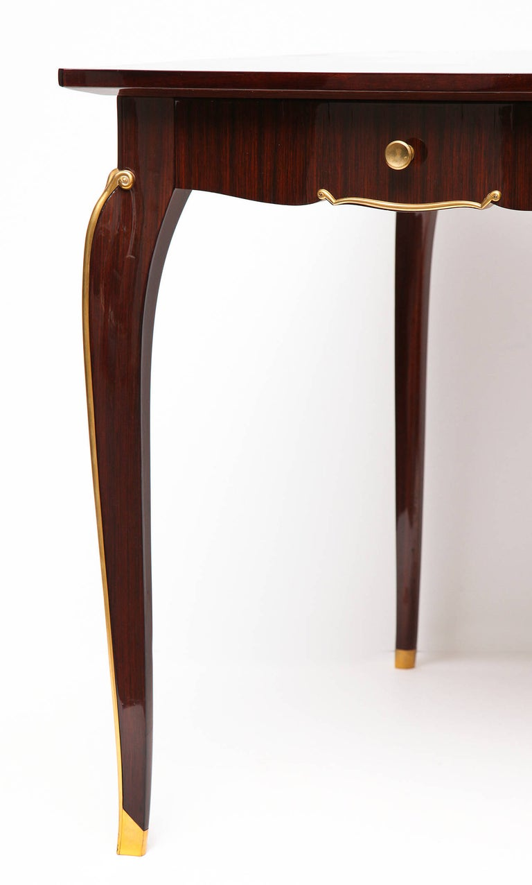 Jules Leleu, Mahogany Writing Table, France, circa 1940 In Good Condition For Sale In New York, NY