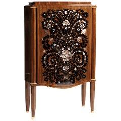 "Jules Leleu ""Meuble feu d'Artifices,"" Fireworks Cabinet, France, circa 1946"