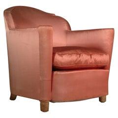 Jules Leleu Pair of Club Chairs, Normandie Model