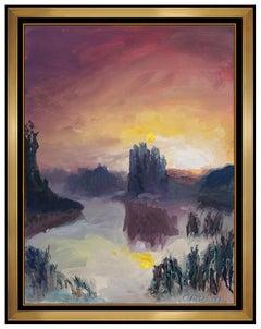 Jules Olitski Original Watercolor Painting Signed Color Field Landscape Artwork