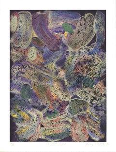 "Jules Olitski-Mozart Night-47"" x 36""-Serigraph-1992-Abstract-Multicolor, Green"