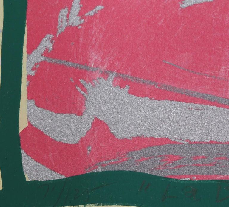 La Boca Love Song - Abstract Expressionist Print by Jules Olitski