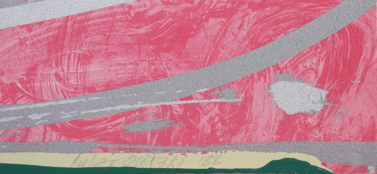 La Boca Love Song - Pink Abstract Print by Jules Olitski