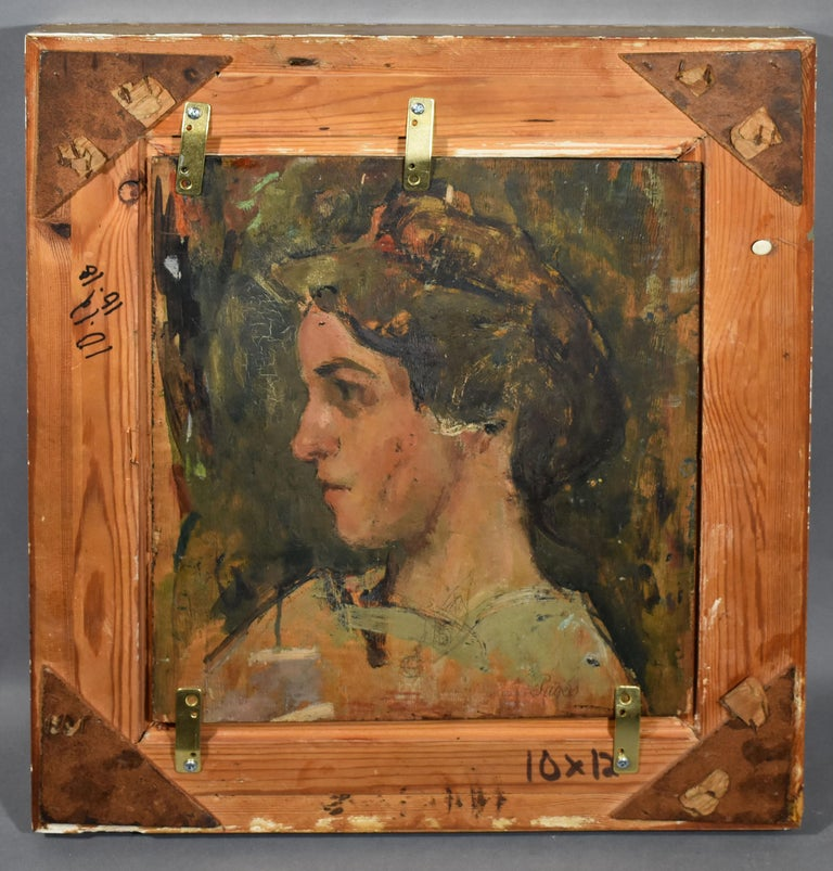 Antique Impressionist Paris Cityscape Signed Original Street Scene Oil Painting For Sale 2