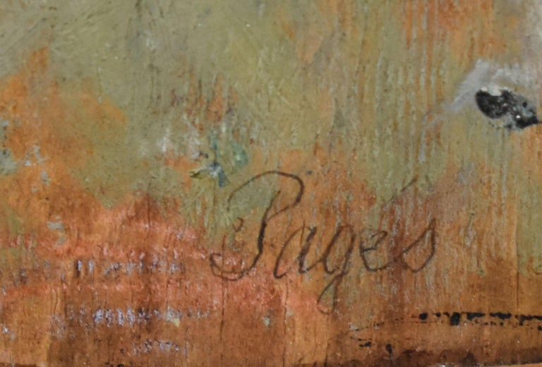 Antique Impressionist Paris Cityscape Signed Original Street Scene Oil Painting For Sale 3