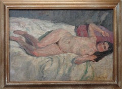 Figurative Nude Painting by Jules Pages 1867 - 1946 American, California, artist