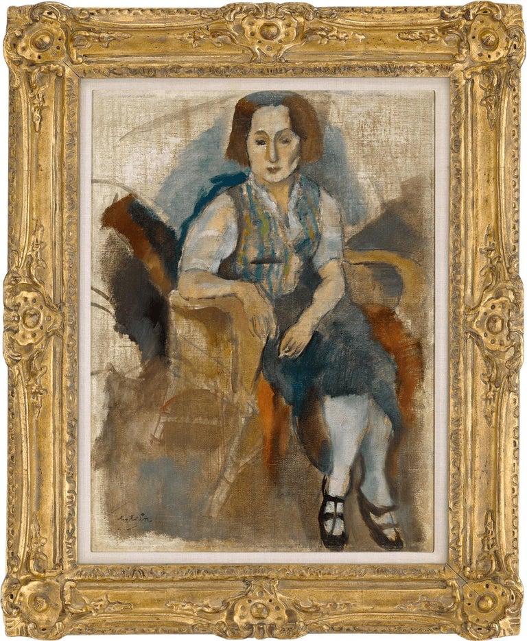 Femme aux Souliers Noir (Woman in Black Shoes) - Painting by Jules Pascin