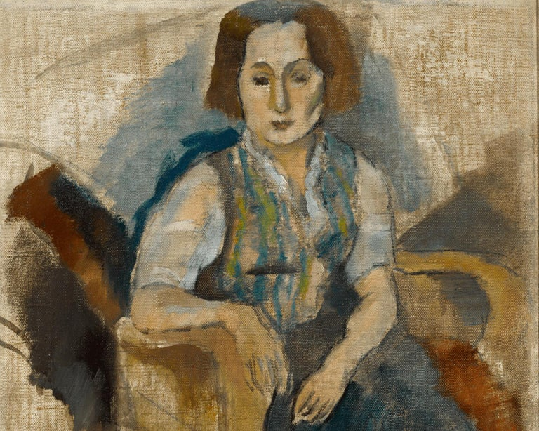 Femme aux Souliers Noir (Woman in Black Shoes) - Modern Painting by Jules Pascin