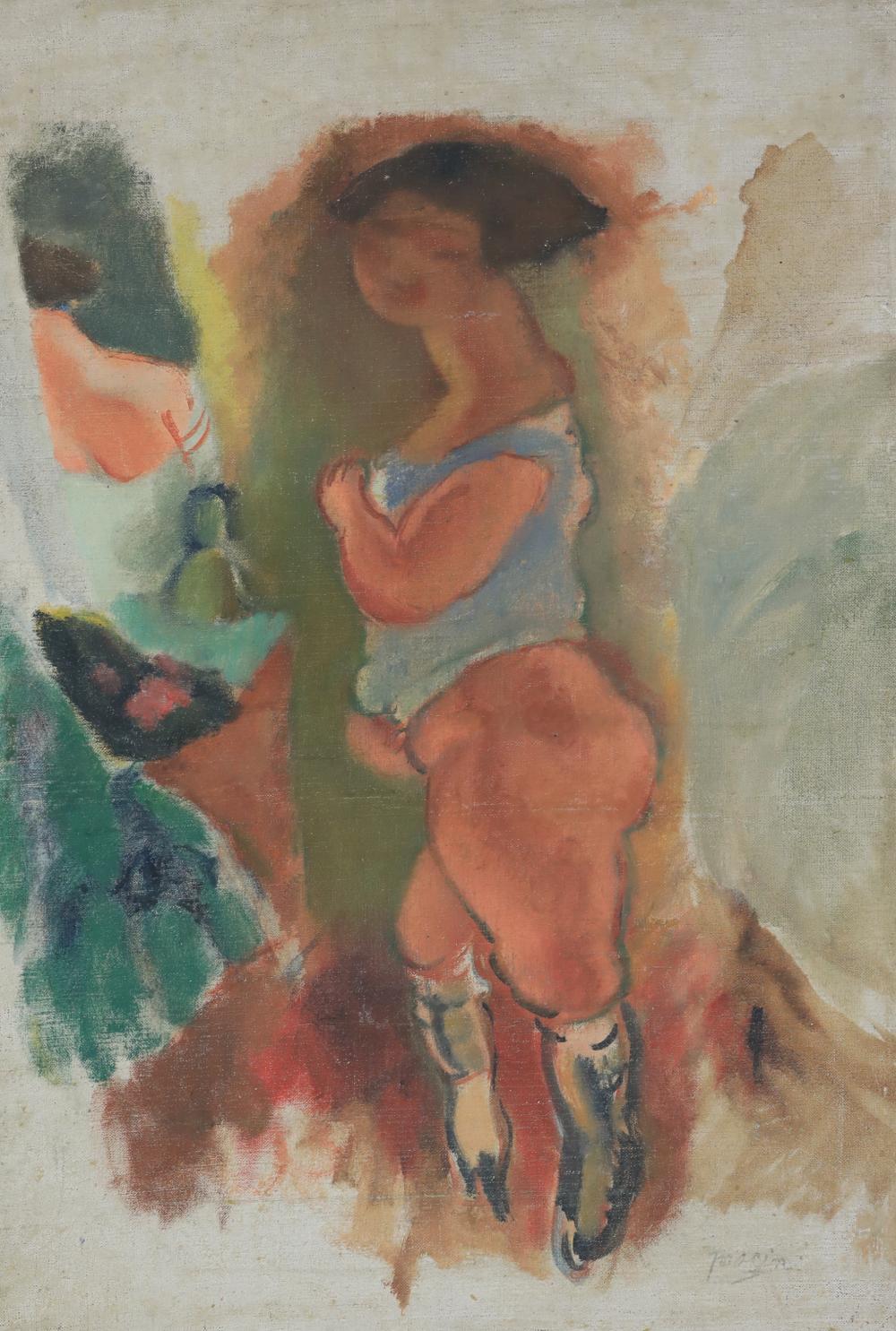 Femme en Chemise Bleue by Jules Pascin