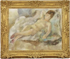 Rebecca Couchée by JULES PASCIN - School of Paris, Nude Painting, Figurative Art