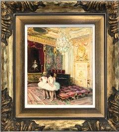 Ballerinas, Impressionistic Interior Scene