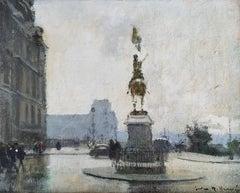 """""""Place Jeanne D'Arc, Paris,"""" Jules Herve, French Impressionism, Cityscape Street"""