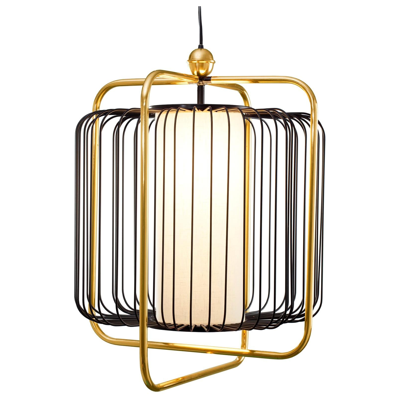 Jules Suspension Lamp with Brass