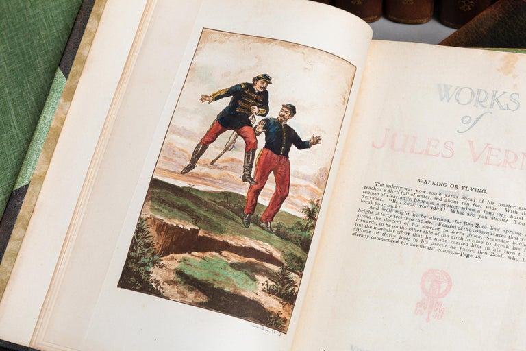 Jules Verne, Complete Works In Good Condition For Sale In New York, NY