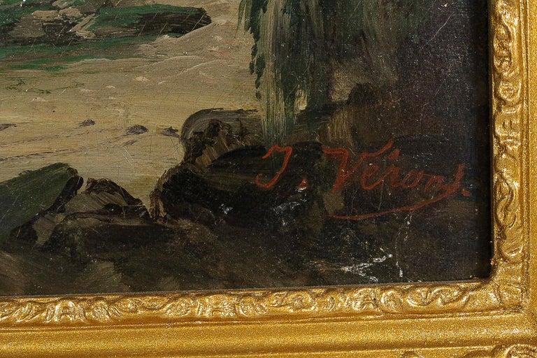 Jules Véron-Faré Oil on Canvas Scene of Navy, circa 1880-1890 For Sale 4