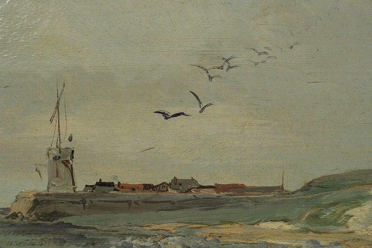 Jules Véron-Faré Oil on Canvas Scene of Navy, circa 1880-1890 In Good Condition For Sale In Saint Ouen, FR