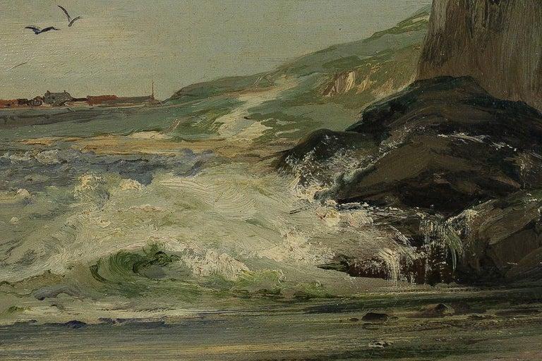 Jules Véron-Faré Oil on Canvas Scene of Navy, circa 1880-1890 For Sale 3
