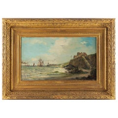 Jules Véron-Faré Oil on Canvas Scene of Navy, circa 1880-1890