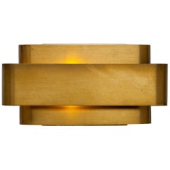 Jules Wabbes Brass 'Small Wall Lamp' by General Decoration, 1968