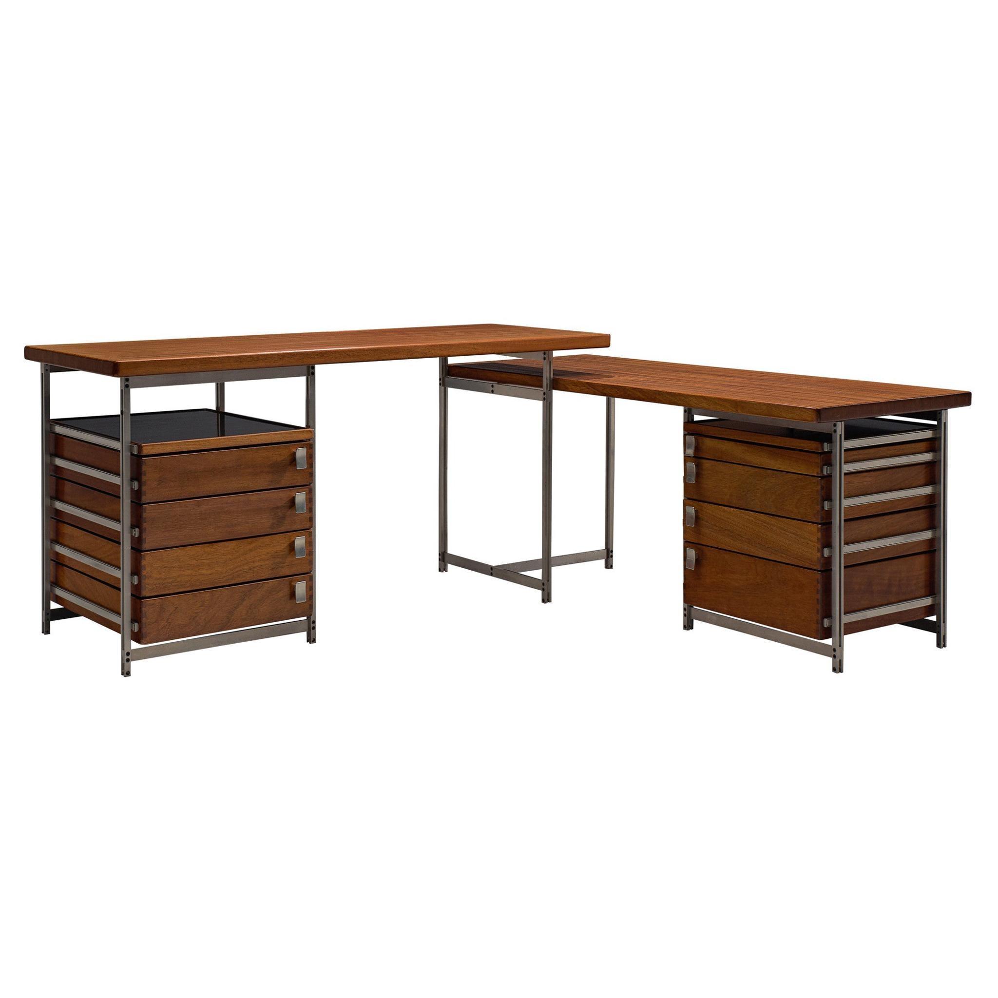 Jules Wabbes Corner Desk with Drawers in Mutenyé