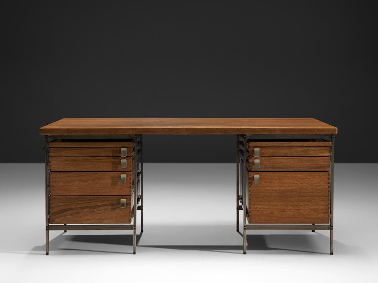 Mid-Century Modern Jules Wabbes Desk Foncolin Desk For Sale