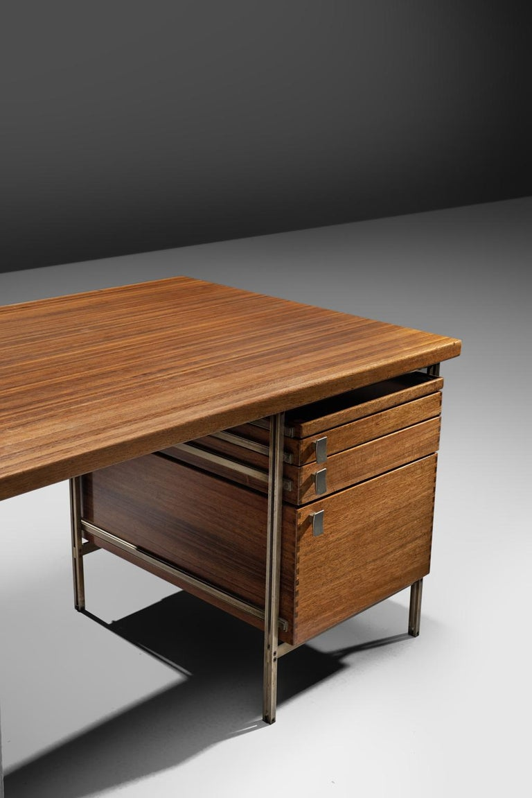 Mid-20th Century Jules Wabbes Desk Foncolin Desk For Sale