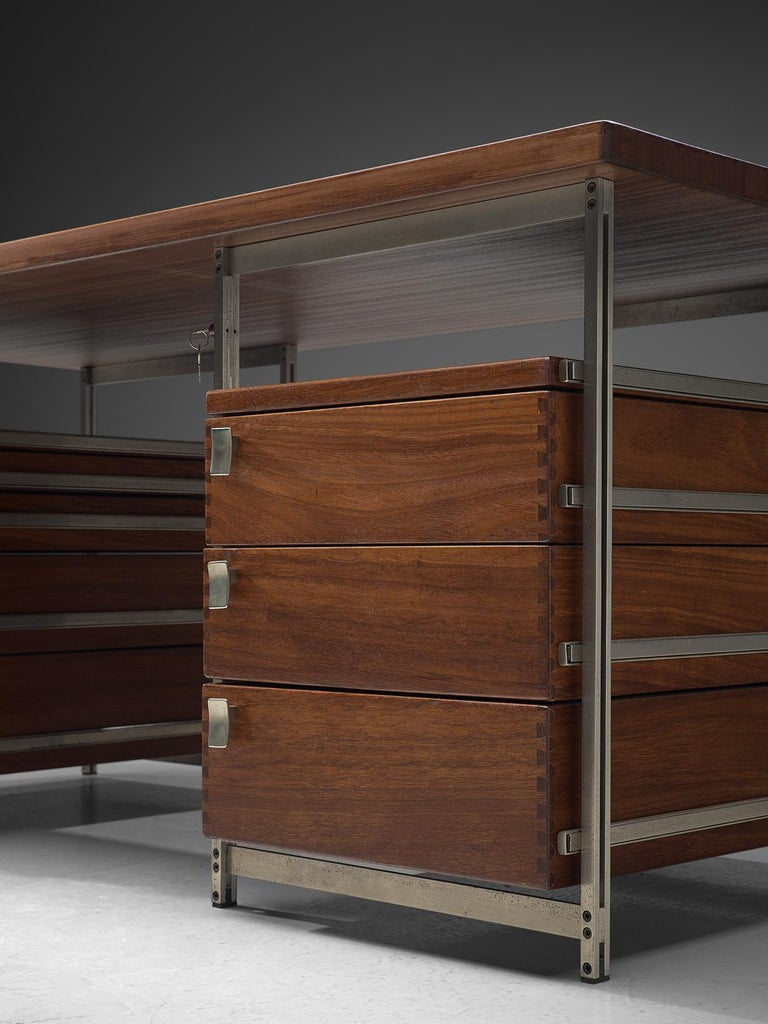 Metal Jules Wabbes Desk Foncolin Desk For Sale