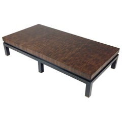 Jules Wabbes Large Coffee Table End-Grain Wenge, circa 1970, Belgium