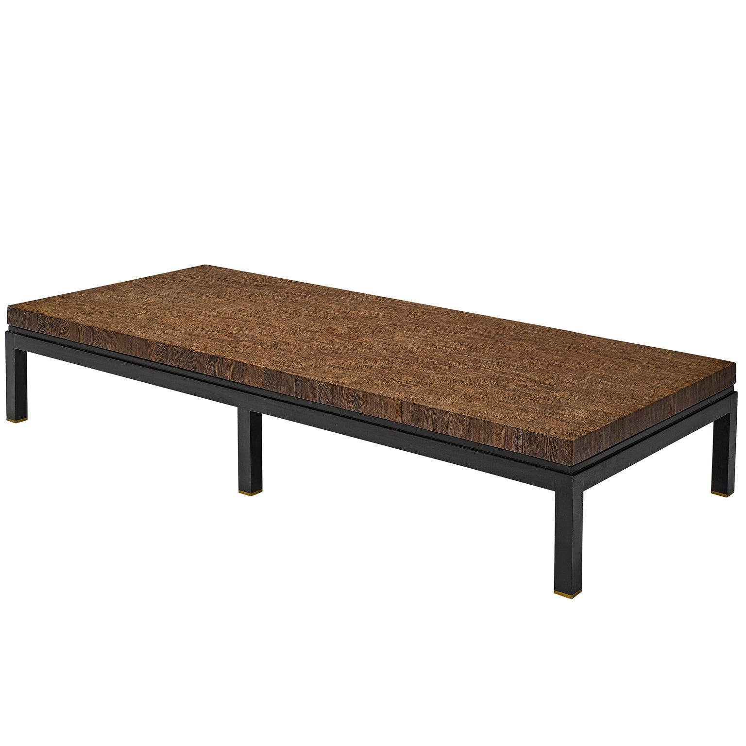 Jules Wabbes Large Coffee Table in Wengé