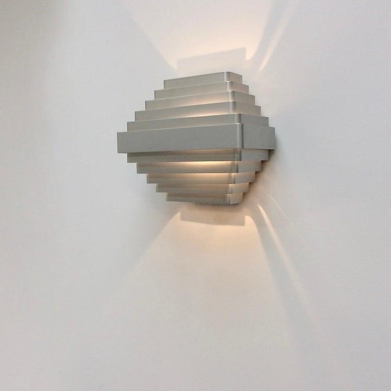 Belgian Jules Wabbes Large Wall Lamp, Belgium, circa 1970 For Sale