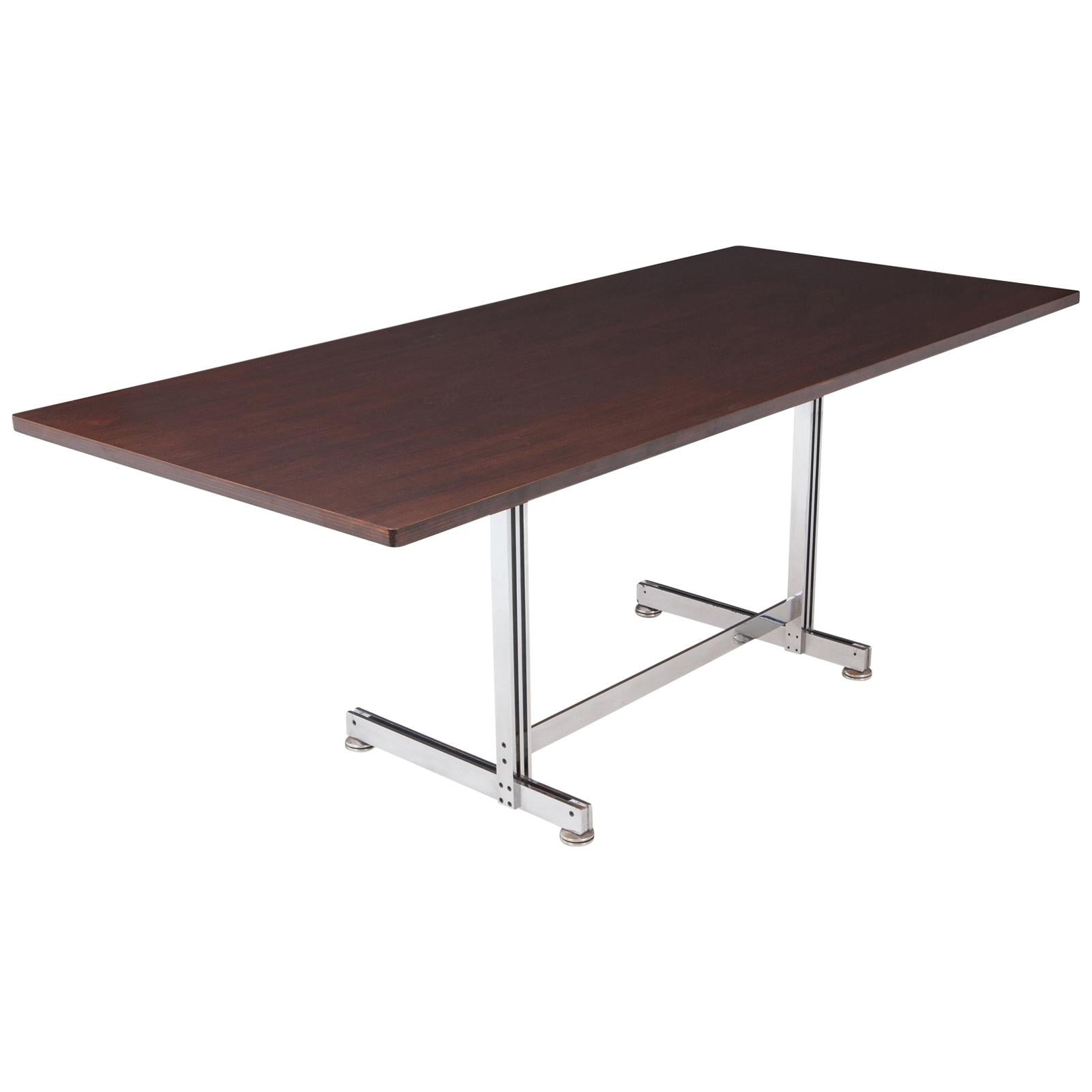 Jules Wabbes Mahogany Desk Table for Mobilier Universel