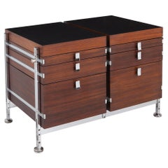 Jules Wabbes Mahogany Double Chest of Drawers for Mobilier Universel