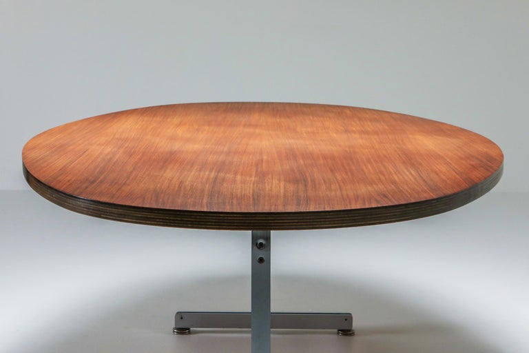 Jules Wabbes Oval Dining Table for Mobilier Universel For Sale 4