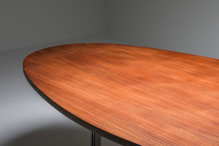 Jules Wabbes Oval Dining Table for Mobilier Universel For Sale 2