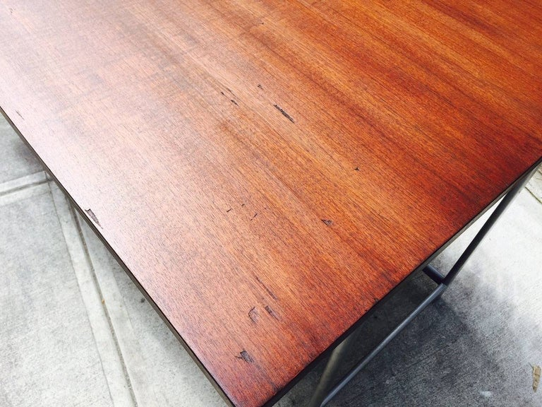 Jules Wabbes Rosewood Desk In Good Condition For Sale In New York, NY