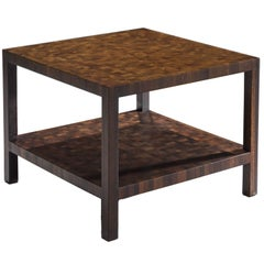 Jules Wabbes Small Side Table in Solid Wenge