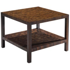 Jules Wabbes Squared Side Table in Solid Wengé